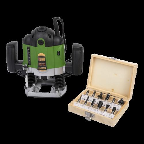 Freza lemn ProCraft POB1700, 1700 W, 30000 Rpm cu 12 freze pentru lemn incluse in pachet