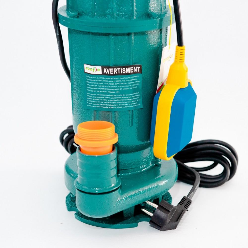 Pompa submersibila, ECOTIS WQDP10-12-2.5, apa murdara, cu plutitor, 2500 W