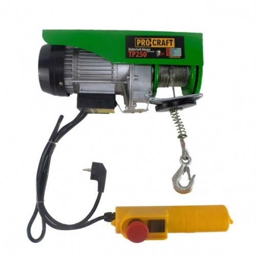 Scripete/ Troliu electric palan Procraft TP250, 540W, cu kit montare Greutate 250kg