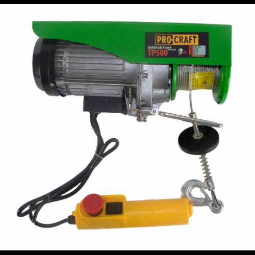 Troliu electric palan Procraft TP500, 1020W, cu kit montare Greutate 500kg