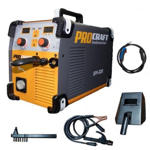 Invertor MMA + MIG Procraft SPI 320, Industrial, Electrozi si Gaz+ Cabluri si Pistol , 320 Amperi