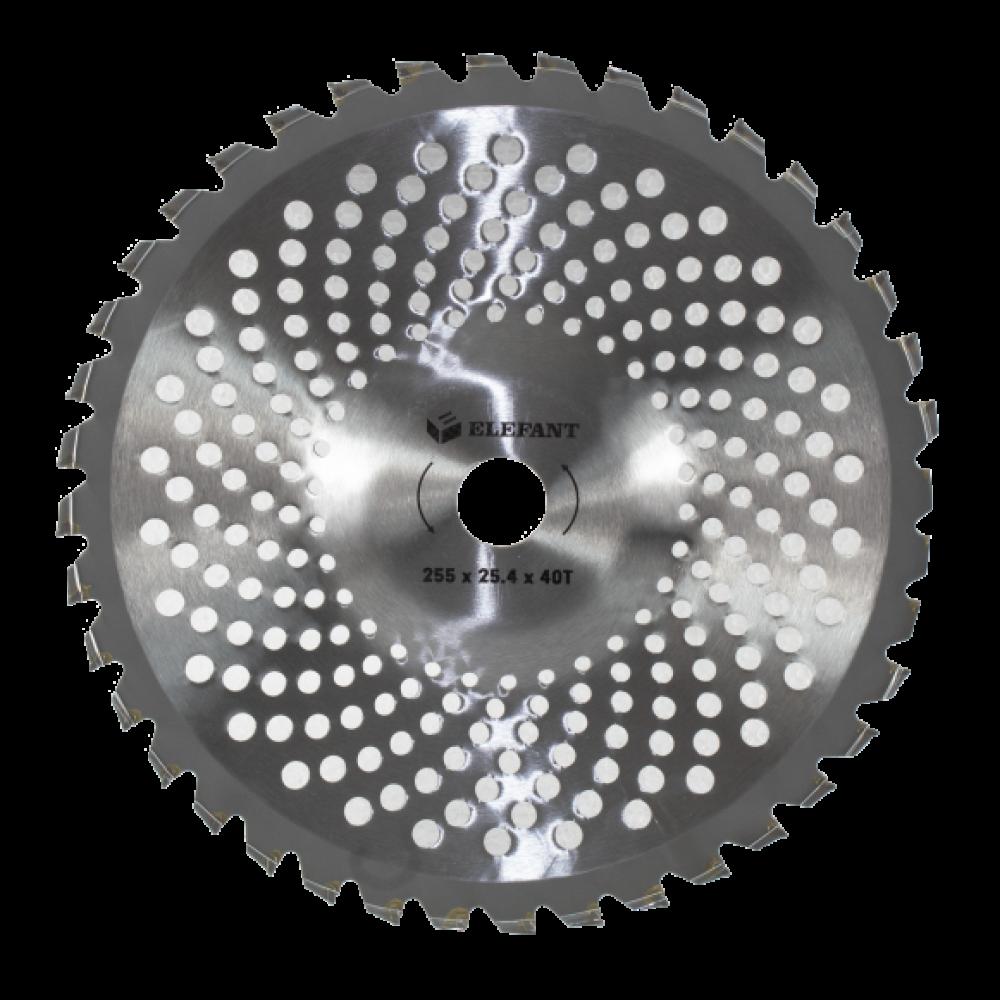 Disc metalic 40 dinti vidia motocoasa, montare rapida 254 mm, tip convex