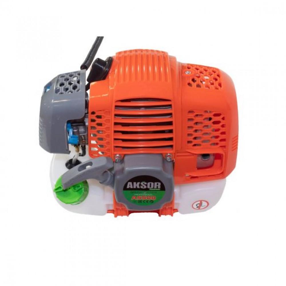 Motocoasa pe benzina Aksor A5500, 5.5 kW + Sistem de Blocare Disc, 55cc, 4 sisteme de taiere, Easy Starter