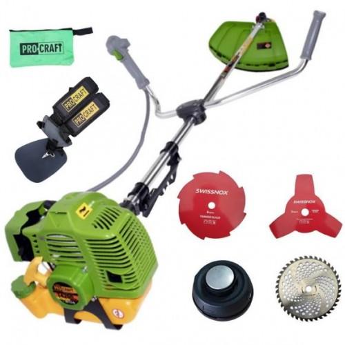Motocoasa benzina Procraft T4200 Pro cu Sistem de Blocare Disc, 4200W, 4 sisteme de taiere